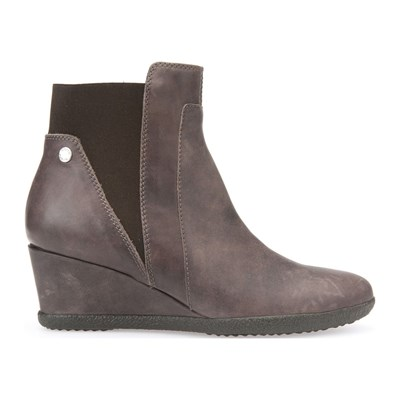 Amelia - Boots en cuir - taupe