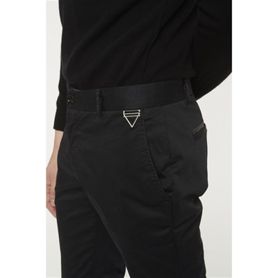ELEVEN PARIS Win Chaplin - Pantalon chino - noir