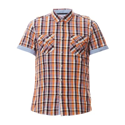 Chemise à carreaux - orange