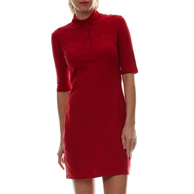 Robe polo - rouge