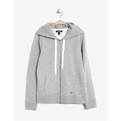 Sweat zippéà capuche - gris