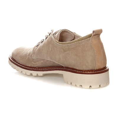 Work - Derbies en cuir - beige