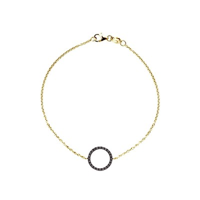 Carré Montaigne prestige - bracelet en or avec diamants - jaune