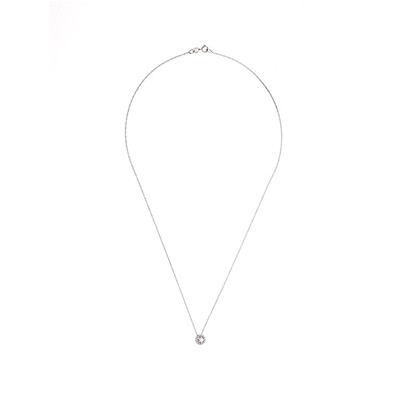 Carré Montaigne prestige - collier en or avec diamant - blanc