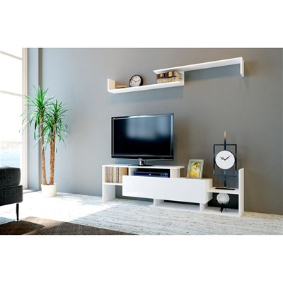 wooden art meuble tv naturel brandalley. Black Bedroom Furniture Sets. Home Design Ideas