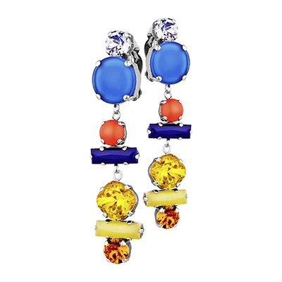 Froggy - Boucles d'oreilles clips - multicolore