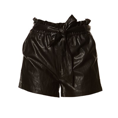 Billy - Short en simili cuir - noir
