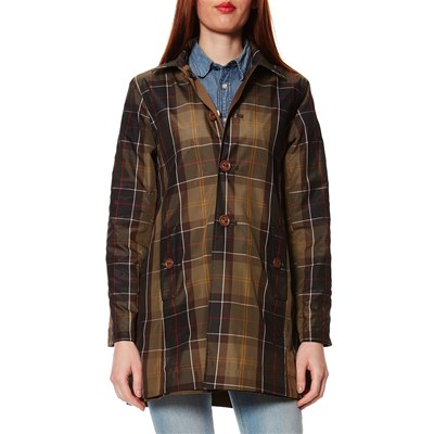 Barbour Reversible derby mac - trench réversible - marron