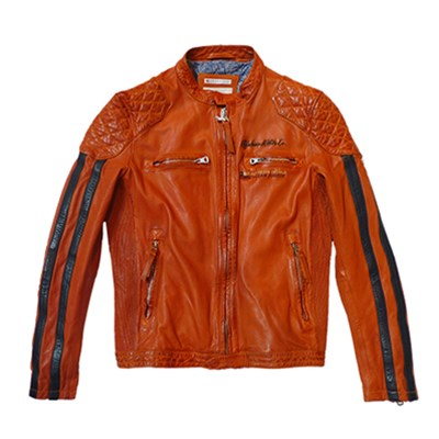 Rivas - Veste en cuir - orange