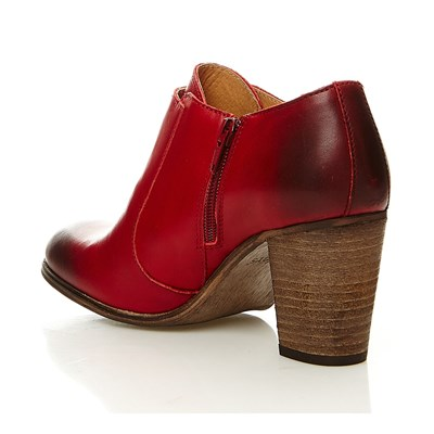 Dailymoc - Low boots en cuir - rouge