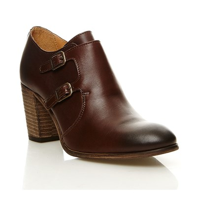 Dailymoc - Low boots en cuir - marron