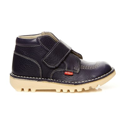 KICKERS Neokrafty - Scarponcini in pelle - blu scuro