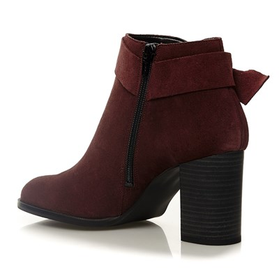 Bottines en cuir - bordeaux