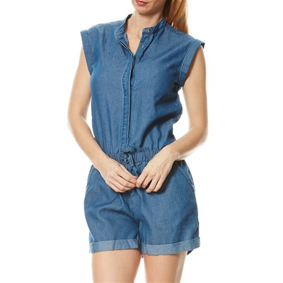 Combi-short - denim bleu