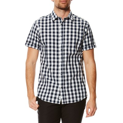 Jack & Jones Chess - Camisa - azul marino