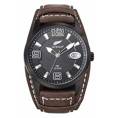 All Blacks montre analogique en cuir - bicolore