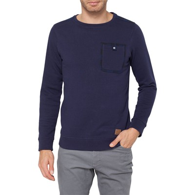 Flannel ville crew - Sweat-shirt - bleu marine