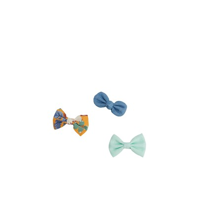 Pack de 2 barrettes à noeud - multicolore