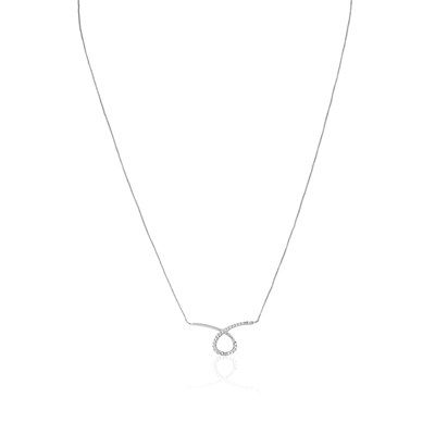 Collier en or blanc - argenté