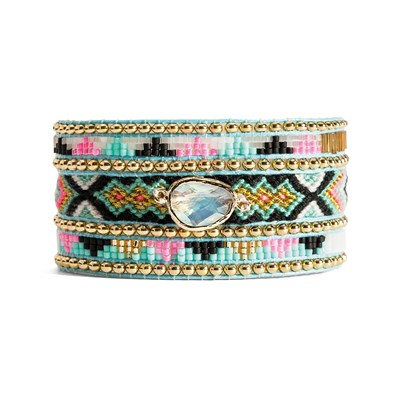 Amy twin - Bracelet avec perles - multicolore