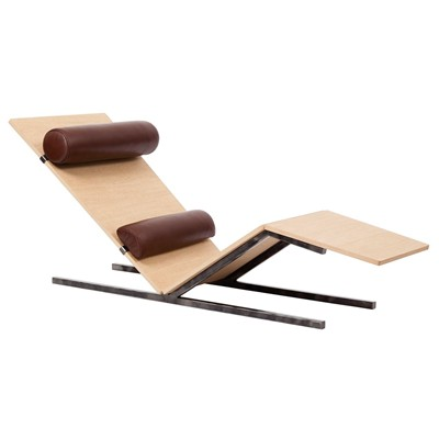 Alex de rouvray vaneau - chaise longue - marron