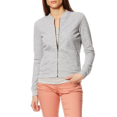 Sweat-shirt zippé - gris clair