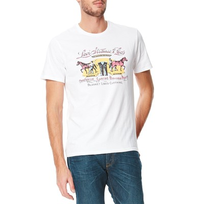 Levi's Graphic setin neck - t-shirt manches courtes - blanc