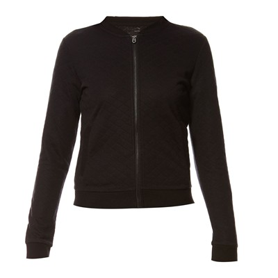 Sweat-shirt zippé - noir