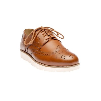 Brogue - Derbies en cuir - camel