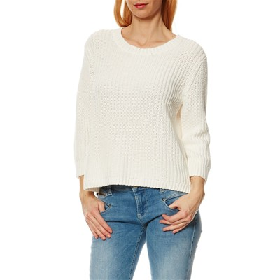 Loose Knit - Pull - blanc