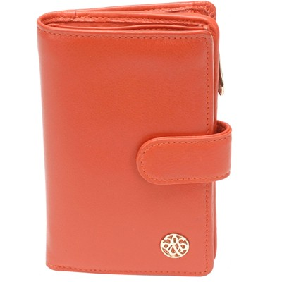Arthur & aston portefeuille en cuir - orange