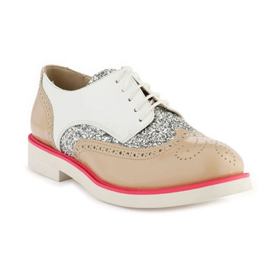 Ela - Derbies en cuir - blanc
