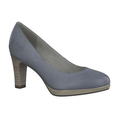 Escarpins en cuir - denim bleu