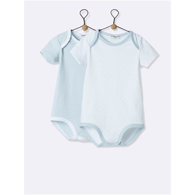 Cyrillus Lot de 2 bodies - blanc