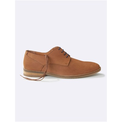 Derbies en cuir - camel