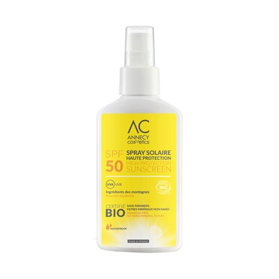 Annecy Cosmetics spay solaire bio - spf50