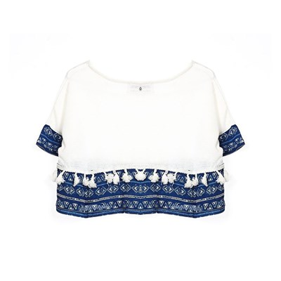 Taponi - Cropped Top - blanc