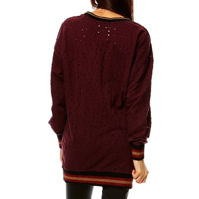 HOXTONITE - Sweat long - bordeaux