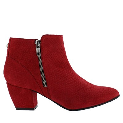 Bottines en cuir - rouge