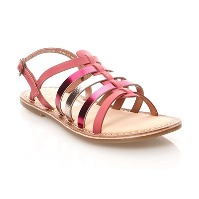 Kickers Dixmillion - spartiates en cuir - fuchsia