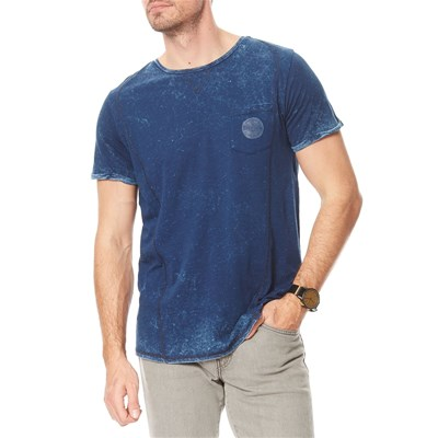Teddy Smith told mc - t-shirt manches courtes - bleu marine
