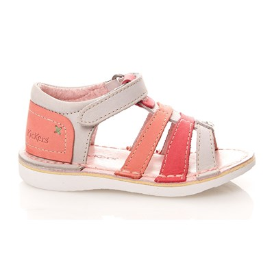 WOOPY - Spartiates en cuir - rose