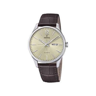 Retro - Montre en cuir - marron