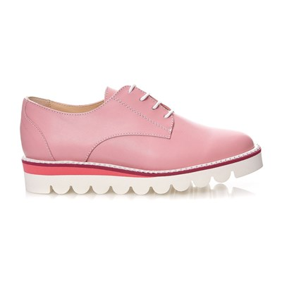 Bob - Derbies en cuir - rose