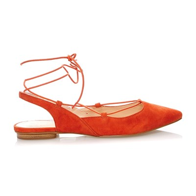 Brunella - Ballerines en cuir suédé - orange