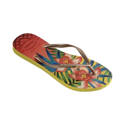 HAVANIANAS SLIM TROPICAL - Tongs - jaune