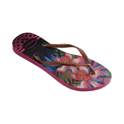 HAVANIANAS SLIM TROPICAL - Tongs - rose