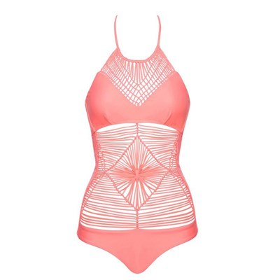 Luli Fama heart of a hippie - maillot 1 pièce - rose