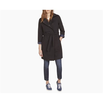 Caroll Badge - forme trench, imperméable : trench - bleu marine
