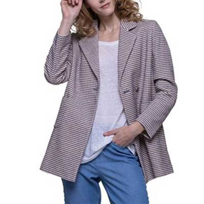 And Jacquard Manteau Trench Court Coat Bleu En cf7q8gxAgw